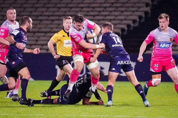 South Wales Argus: CARRYING: Taine Basham on the charge for the Dragons