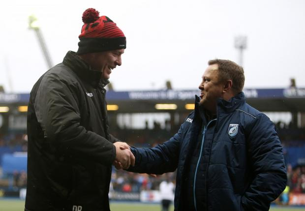 South Wales Argus: Dean Ryan and John Mulvihill at last year's Boxing Day derby
