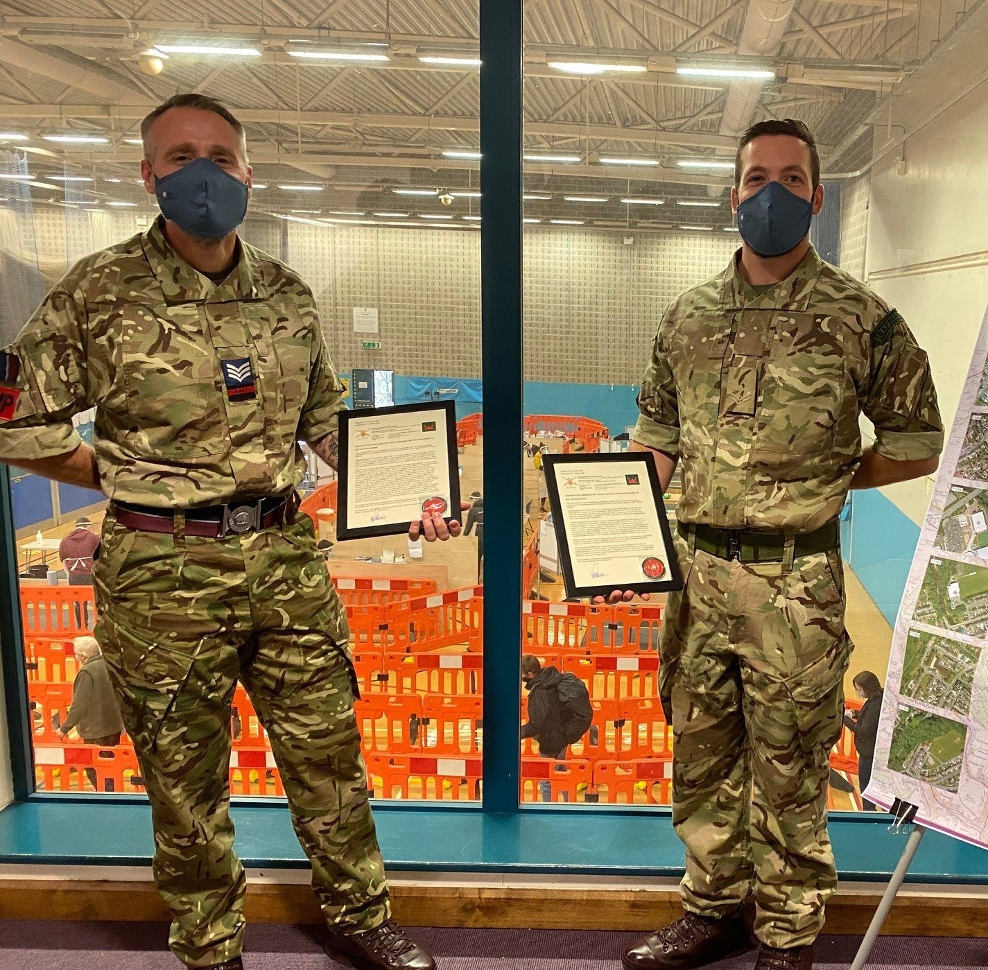 Mass coronavirus testing efforts leads to award for Monmouthshire corporal