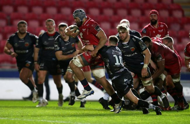 KEY MAN: Sione Kalamafoni scored the crucial try for the Scarlets