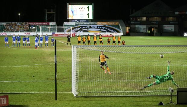 South Wales Argus: Ryan Taylor's penalty was superb