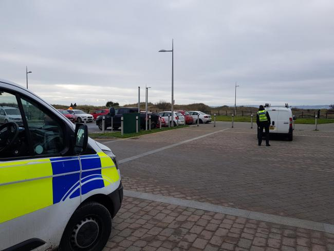 South Wales Police said car parks in Swansea were busier than they should have been over the weekend, and turned back a driver from Newport. Picture: South Wales Police.