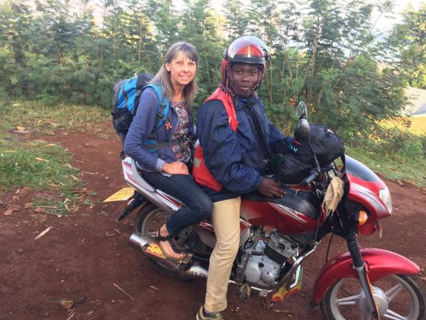 South Wales Argus: Mary Watkins travelled around rural Rwanda on the back of a motorbike, visiting schools and helping teachers there develop learning materials.