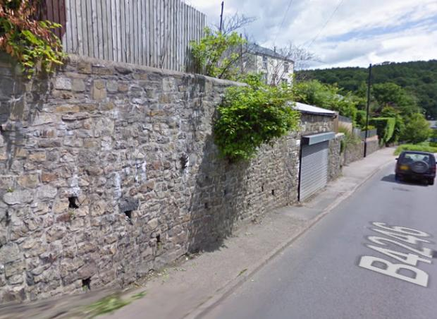 South Wales Argus: The wall on Union Street, before the collapse Picture: Google