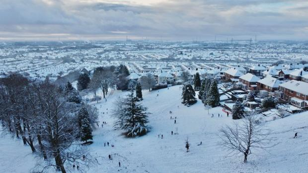 Latest news and pictures as snow covers Gwent