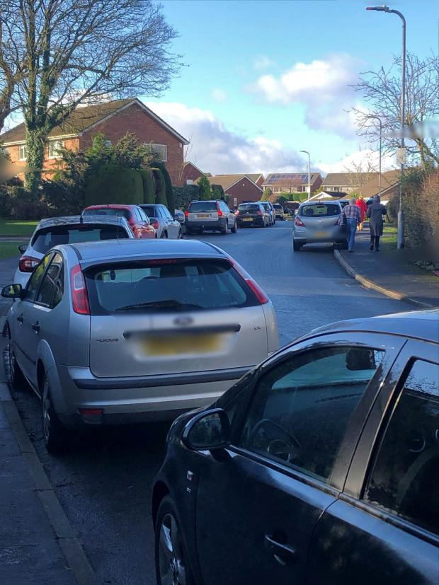South Wales Argus: Cars parked on residential streets near the Fourteen Locks Canal Centre on the weekend