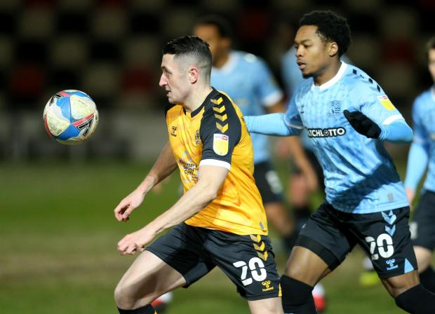 South Wales Argus: NEW BOY: Anthony Hartigan is yet to setle in Newport's midfield