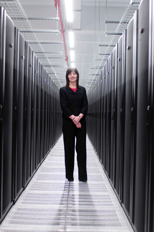 Lesley Griffiths, Deputy Minister for Science, Innovation and Skills who officially opened the Data Centre yesterday