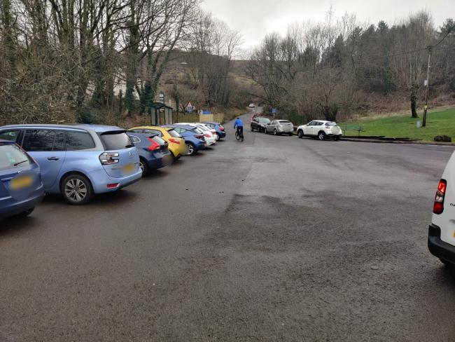 A busy car park at Cwmbran Boating Lake. Picture: Torfaen council.