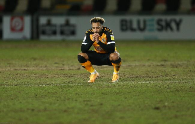 FRUSTRATED: Nicky Maynard after Newport were held to a draw by nine-man Exeter