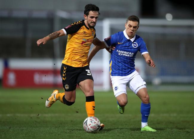 TALENT: Liam Shephard has been a huge hit down Newport County AFC's right side