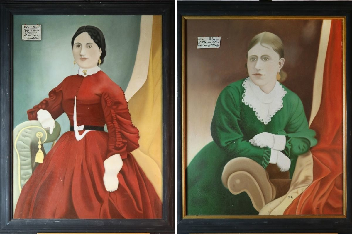 Margaret Williams snr and Amelia Williams paintings