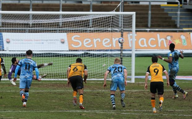 South Wales Argus: SECOND: Jamille Matt scores from the spot