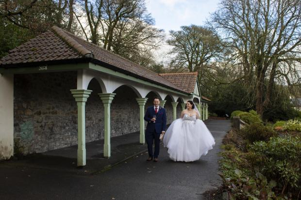 South Wales Argus: Nicole and Nicholas wedding at Bedwelty Park, December 2020