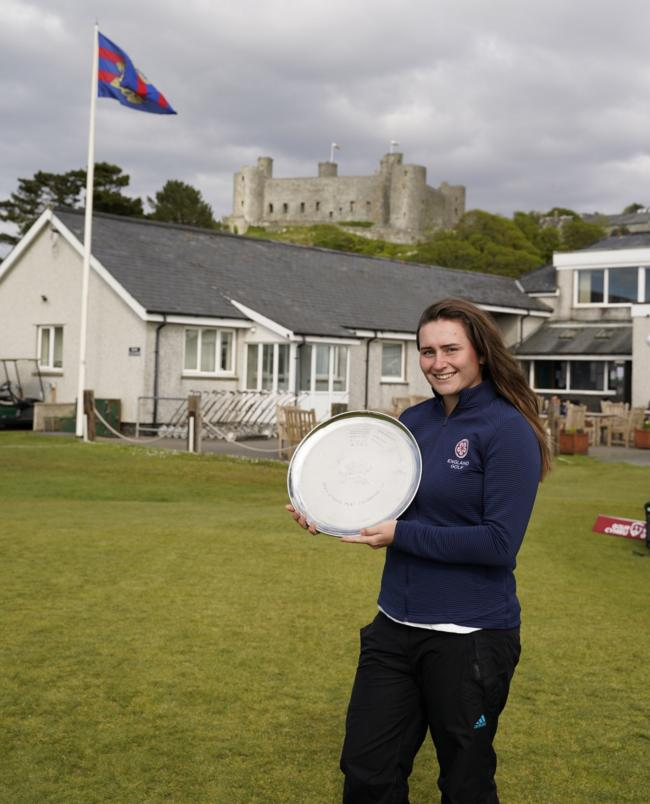 2019 Welsh Ladies Open Strokeplay champion Lily May Humphreys. She won the event at Royal St David's, Harlech
