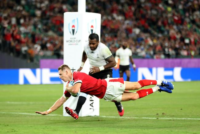 TOUGH: Wales' Liam Williams scores against Fiji at the World Cup in 2019
