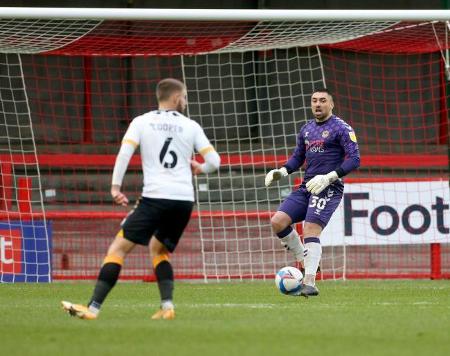 STARTER: Nick Townsend has enjoyed a strong season in goal for Newport County AFC