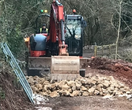 Work on Greenmeadow Farm in Cwmbran. Picture: Torfaen council.