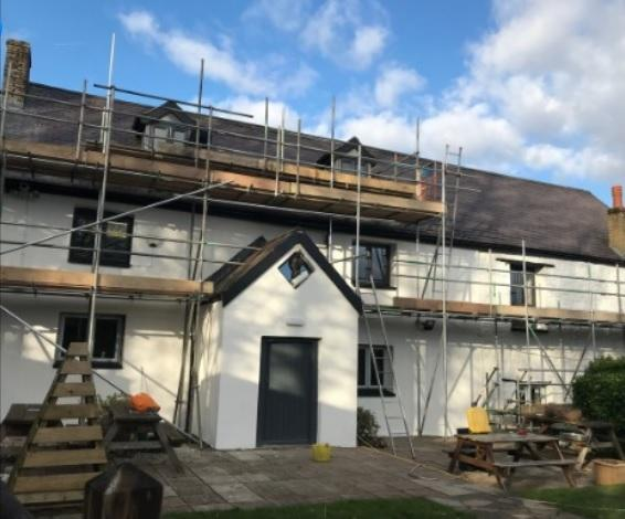 Work at the farmhouse at Greenmeadow Farm in Cwmbran. Picture: Torfaen council.