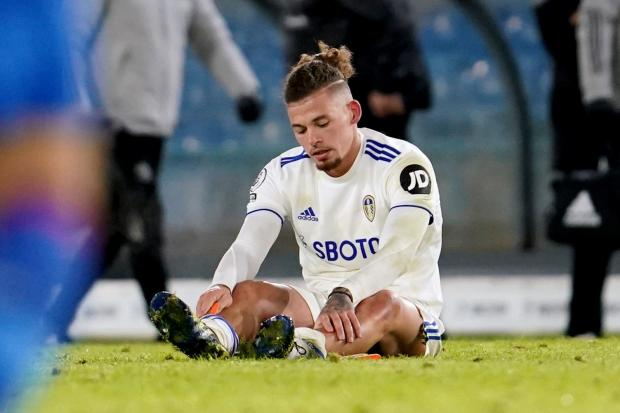 Kalvin Phillips sustained a calf injury in last month's home win against Crystal Palace