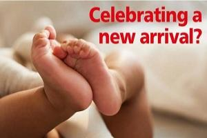Just had a baby? Share your news on our regular New Arrivals page every Monday. Just click here
