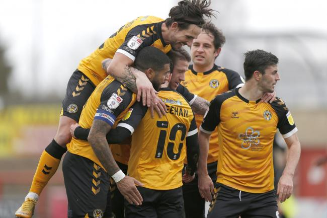 GOING UP? Newport County AFC are chasing promotion from League Two