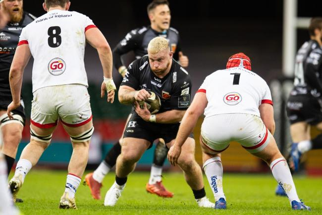 STAYING: Prop Lloyd Fairbrother has signed a new Dragons deal