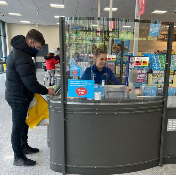 South Wales Argus: From April, Aldi will be rolling out the full list National Lottery games.. (Aldi)
