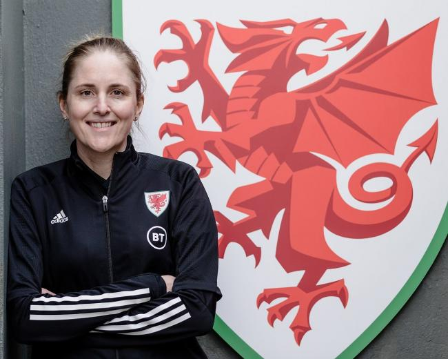 BOSS: Wales Women manager Gemma Grainger (Picture: FAW)
