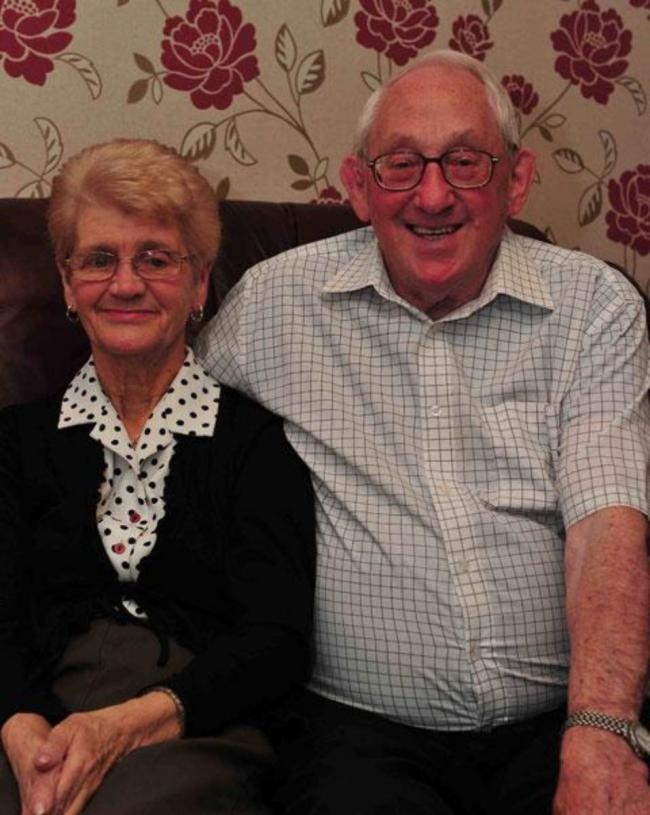 Gordon Hackling with his wife Beryl who predeceased him