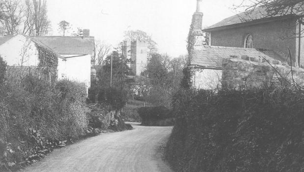 South Wales Argus: Llanmartin village a century ago. Picture from Caldicot and the villages of the moors in Old Photographs by Richard Jones, published by Old Bakehouse Publications, Abertillery