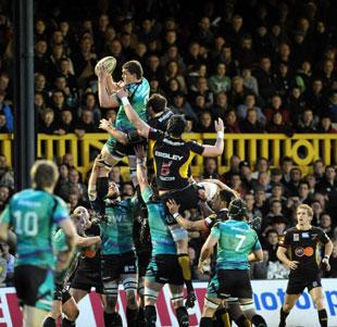 Ospreys win this line out