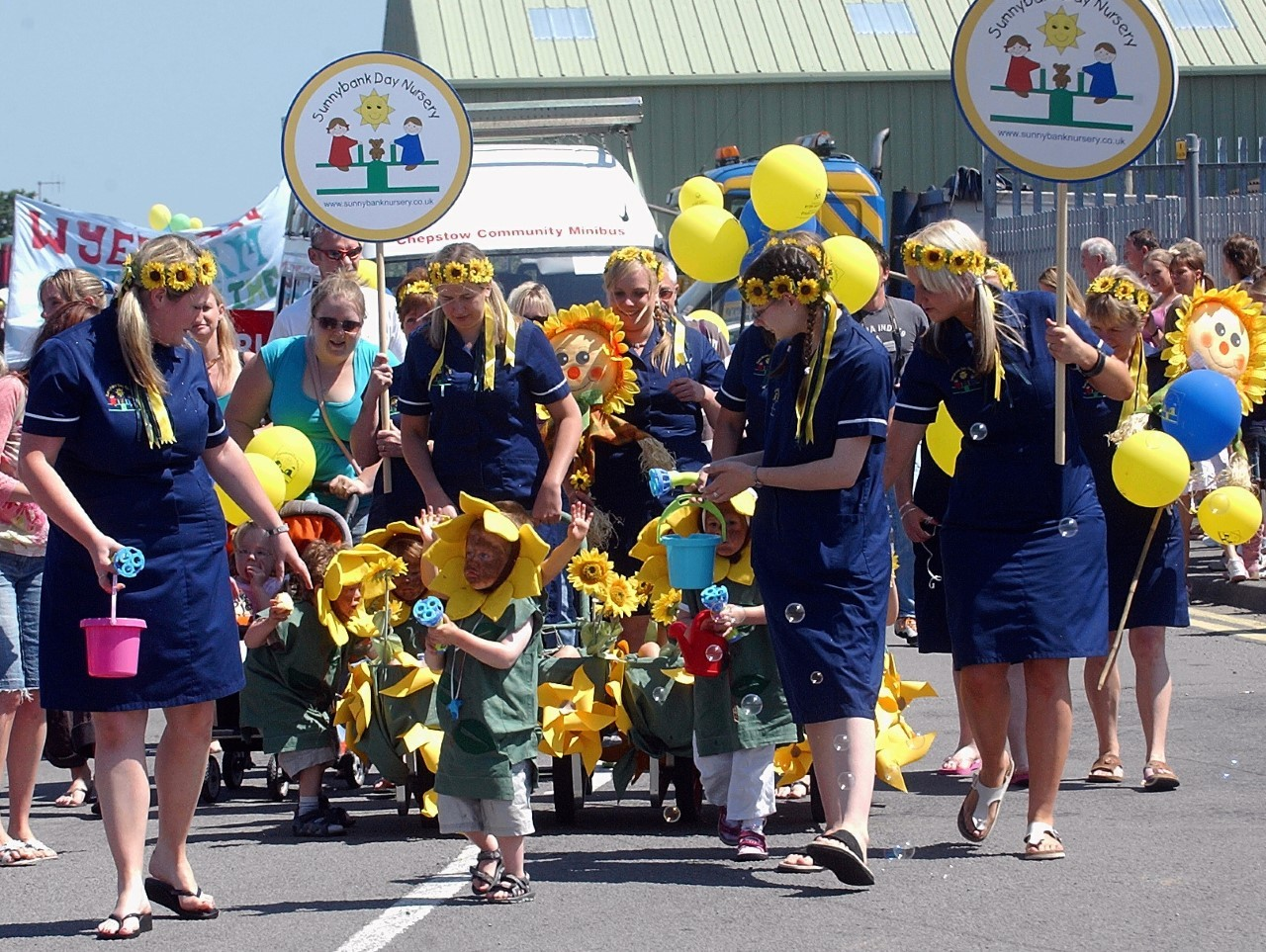 When big bands and colourful floats delighted Chepstow carnival crowds