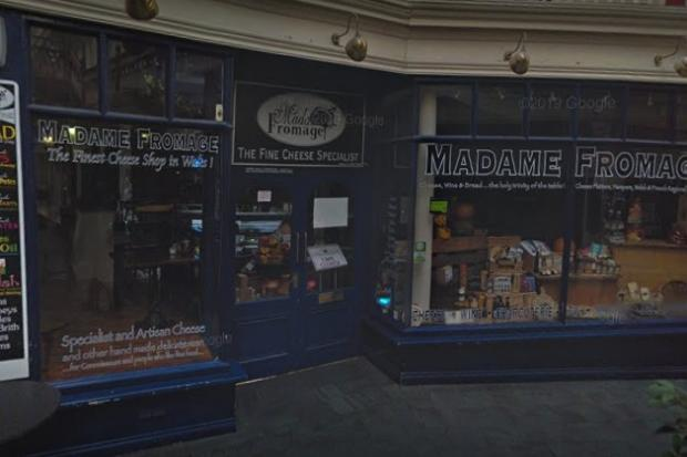 Madame Fromage's Cardiff storefront