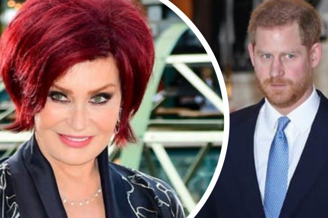 Sharon Osbourne brands Prince Harry the 'poster boy' of 'white privilege'. (PA/Canva)