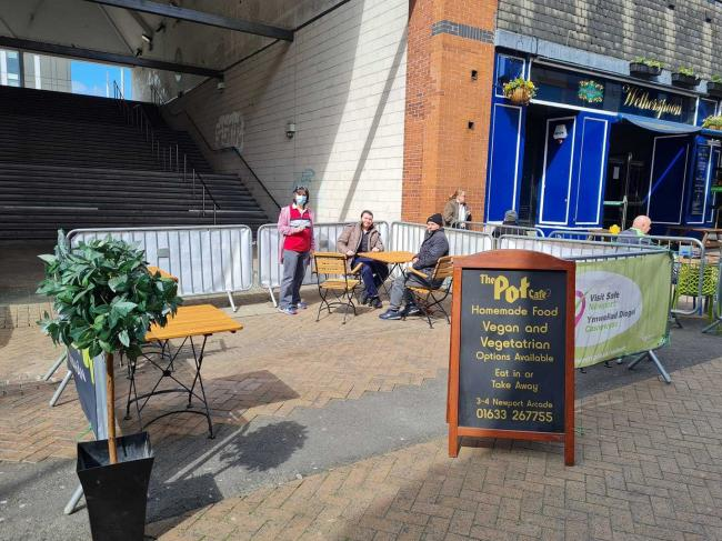 The outdoor area (Picture: The Pot Cafe)
