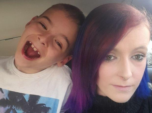 South Wales Argus: Stephanie and her son