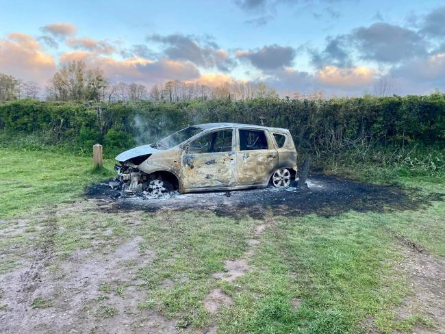 Car fire deliberate say authorities Picture: Charlie Fountain