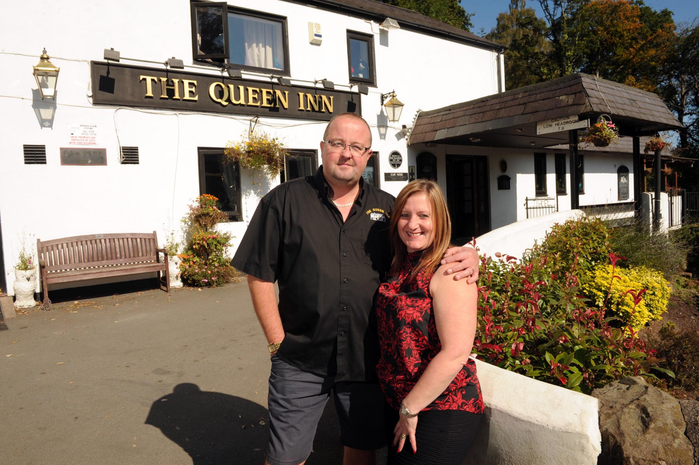 Gareth and Jane Edwards of the Queen Inn, Upper Cwmbran.