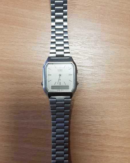 Casio watch in silver with square dial