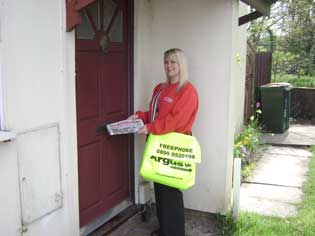 South Wales Argus: home delivery agent