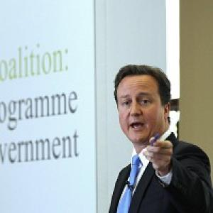 South Wales Argus: David Cameron during the launch of the Coalition Agreement document
