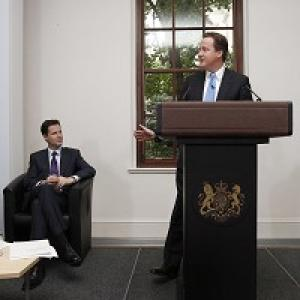 South Wales Argus: Nick Clegg and David Cameron launch the Coalition Agreement document