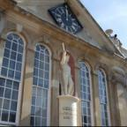 South Wales Argus: SETTING: The statue sits in a recess at the front of Shire Hall