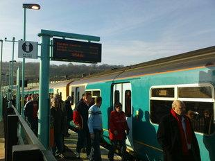 CROWDS EXPECTED: Extra carriages are to run on train services to Abergavenny during the food festival