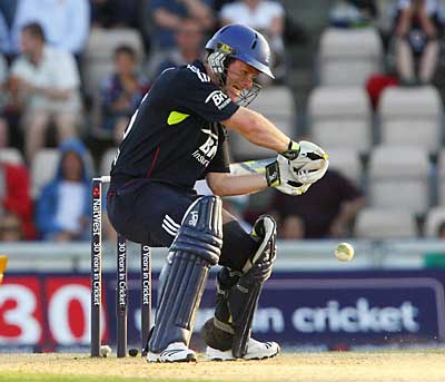 GREAT KNOCK: Eoin Morgan will hope to continue his fine form as England and Australia clash the Swalec Stadium for the first time since the dramatic Ashes Test last summer