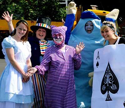UNDER THREAT: Revellers at a previous Chepstow carnival