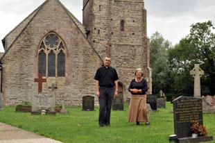 OPEN DAY: Organiser Susan Waters and Rev Jeremy Harris