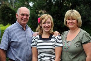 FAMILY AFFAIR: Keith Jones, from left, his daughter Helen Bignell, right, and his granddaughter Victoria Bignell, centre
