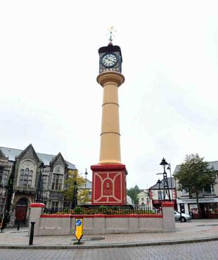 VALLEYS ICON: Tredegar town clock